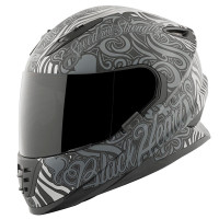 SS1310 Black Heart Helmet Black