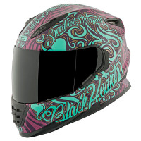 SS1310 Black Heart Helmet Purple