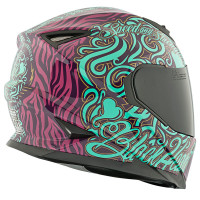 SS1310 Black Heart Helmet Teal