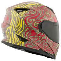 SS1310 Black Heart Helmet Yellow