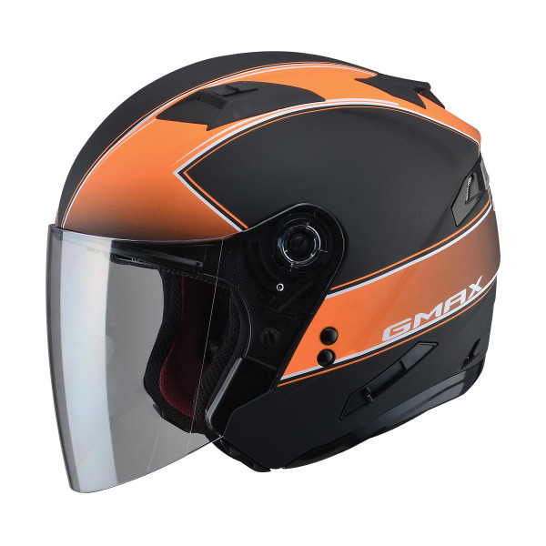 G-Max OF77 Classic Helmet Matte Black / Orange