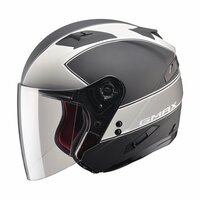 G-Max OF77 Classic Helmet Matte Black / Silver