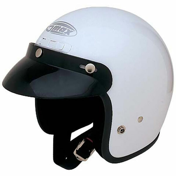 G-Max GM2X Open Face Helmet White