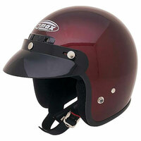 G-Max GM2X Open Face Helmet Wine