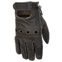 Black Brand Vintage Knuckle Gloves Brown