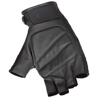 Joe Rocket Vento Fingerless Gloves Black  Palm Side View