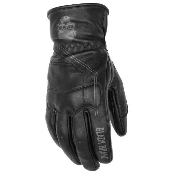 Black Brand Pinstripe Gloves Black