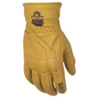Black Brand Pinstripe Gloves Yellow