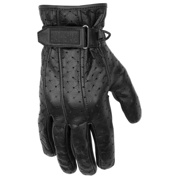 Black Brand Filter Gloves Black