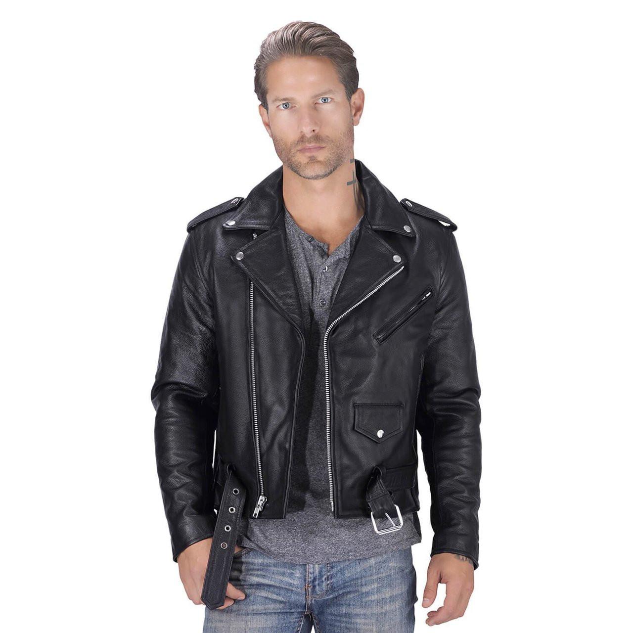 e0824aa5d Nomad USA Classic Leather Biker Jacket