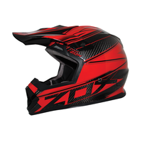 Zox Matrix Carbon Abyss Helmets Red