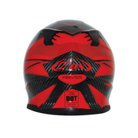 Zox Matrix Carbon Abyss Helmets Red 2