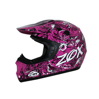 Zox Rush Junior Sharpie Helmets Pink