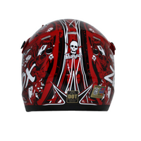 Zox Rush Junior Sharpie Helmets Red 2