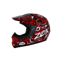 Zox Rush Junior Sharpie Helmets Red