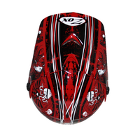 Zox Rush Junior Sharpie Helmets Red 1
