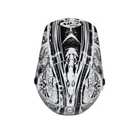 Zox Rush Junior Sharpie Helmets Silver 1