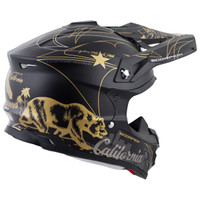 Scorpion VX-35 Golden State Helmet Black/Gold2