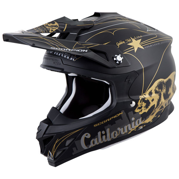 Scorpion VX-35 Golden State Helmet Black/Gold