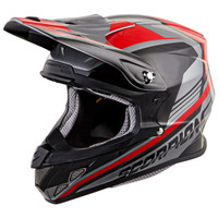 Scorpion VX-R70 Ascend Helmet Silver/Red