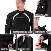 Viking Cycle Overlord Textile Motorcycle Jacket for Men All in One View