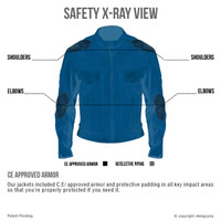 Viking Cycle Skeid Leather Jacket for Men Black Armor View