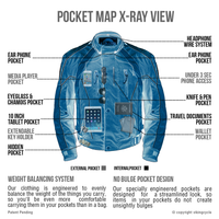Viking Cycle Thor Motorcycle Jacket for Men X-ray View