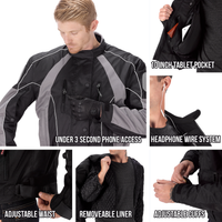Viking Cycle Thor Motorcycle Jacket for Men Closeup View