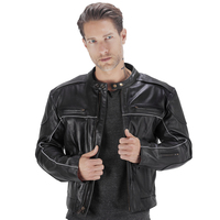 Viking Cycle Warrior 2.0 Leather Motorcycle Jacket Open Jacket View