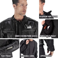 Viking Cycle Warrior 2.0 Leather Motorcycle Jacket Closeups View