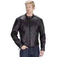 Viking Cycle Warrior Motorcycle Jacket for Men Black Front Side View