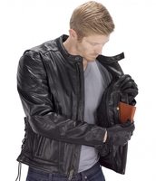 Viking Cycle Warrior Motorcycle Jacket for Men Black Inside Pocket View