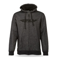 Fly Racing Zip Up Corporate Hoody Gray