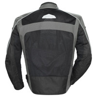 Tour Master Draft Air 3 Jacket Gray Back