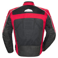 Tour Master Draft Air 3 Jacket Red Back