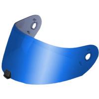 HJC HJ-20M Pinlock-Ready Face Shield RST Mirror Blue