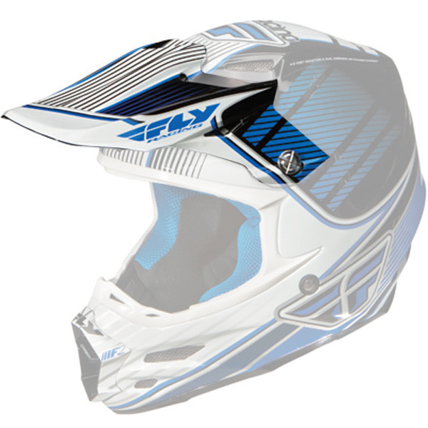 Fly Racing F2 Carbon Trey Canard Helmet Visor Blue