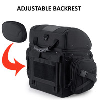 Medium Motorcycle Back Seat Luggage Adjustable Backrest
