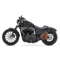 Sportster Specific Brown Motorcycle Swing Arm Bag 2