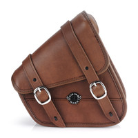 Sportster Specific Brown Motorcycle Swing Arm Bag 1