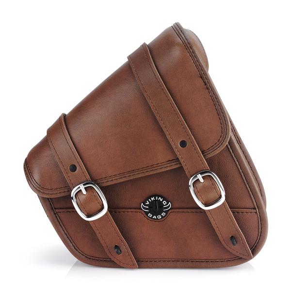 Sportster Specific Brown Motorcycle Swing Arm Bag 1