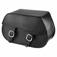 Nomad USA Large Leather Throw-over Motorcycle Saddlebags  1