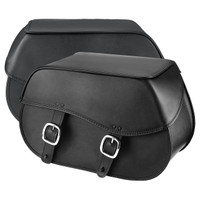 Nomad USA Large Leather Throw-over Motorcycle Saddlebags  3