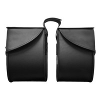 Nomad USA Large Leather Throw-over Motorcycle Saddlebags Both bag Side View