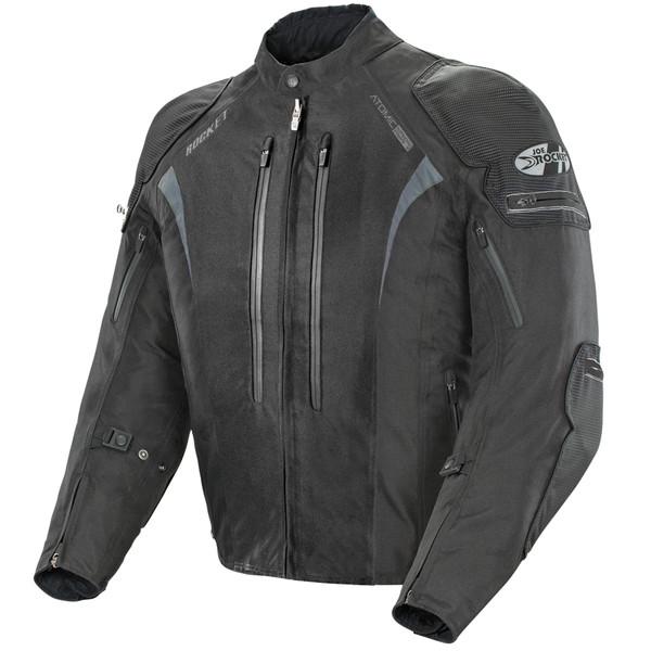 Joe Rocket Atomic Ion Jacket Black Front Side View