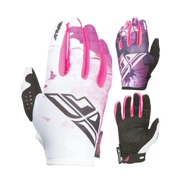 Fly Racing Kinetic Girl's Gloves Purple