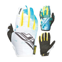 Fly Racing Kinetic Girl's Gloves Teal