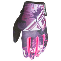 Fly Racing Kinetic Girl's Gloves Purple-2