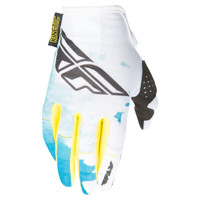 Fly Racing Kinetic Girl's Gloves Teal-1