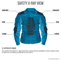 Viking Cycle Warlock Women's Motorcycle Mesh Jacket X-Ray Image Back